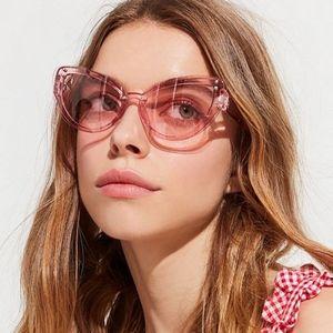 Effie Overlay Oversized Pink Cat Eye Retro frames
